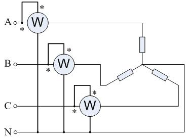 两表测量三相功率的基本原理是基尔霍夫电压定律和