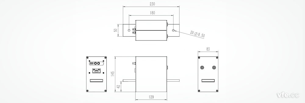电流传感器的安装结构图