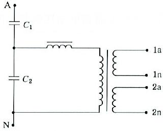 具有两个二次绕组的单相互感器