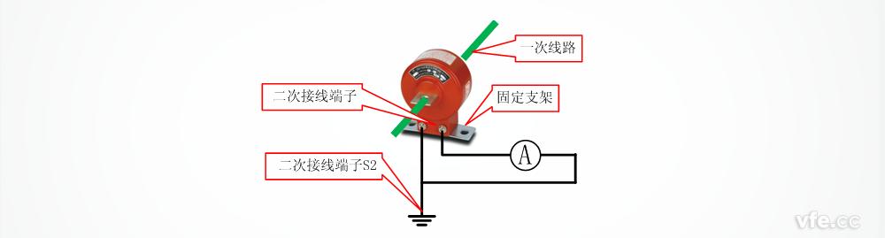 详细描述电流互感器的接线图