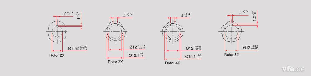 磁阻式旋转变压器转子外形
