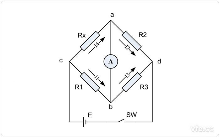 单臂电桥测量电路原理图