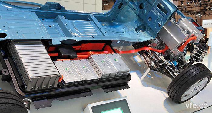 电动汽车电池配置示意图